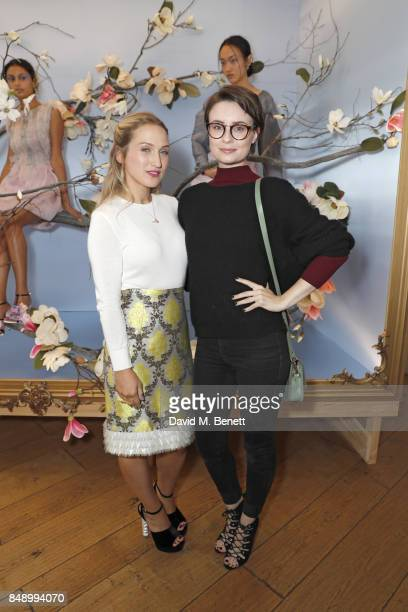 Sophia Webster and Jennifer Kirby attend the Sophia Webster SS18 Presentation at The Portico Rooms Somerset House on September 18 2017 in London...