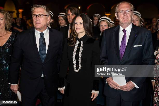 Sophiahemmet director of the board Lars Kihlstrom Burenstam Linder, Princess Sofia of Sweden the Duchess of Varmland, and Peter Aspelin arrive at the...