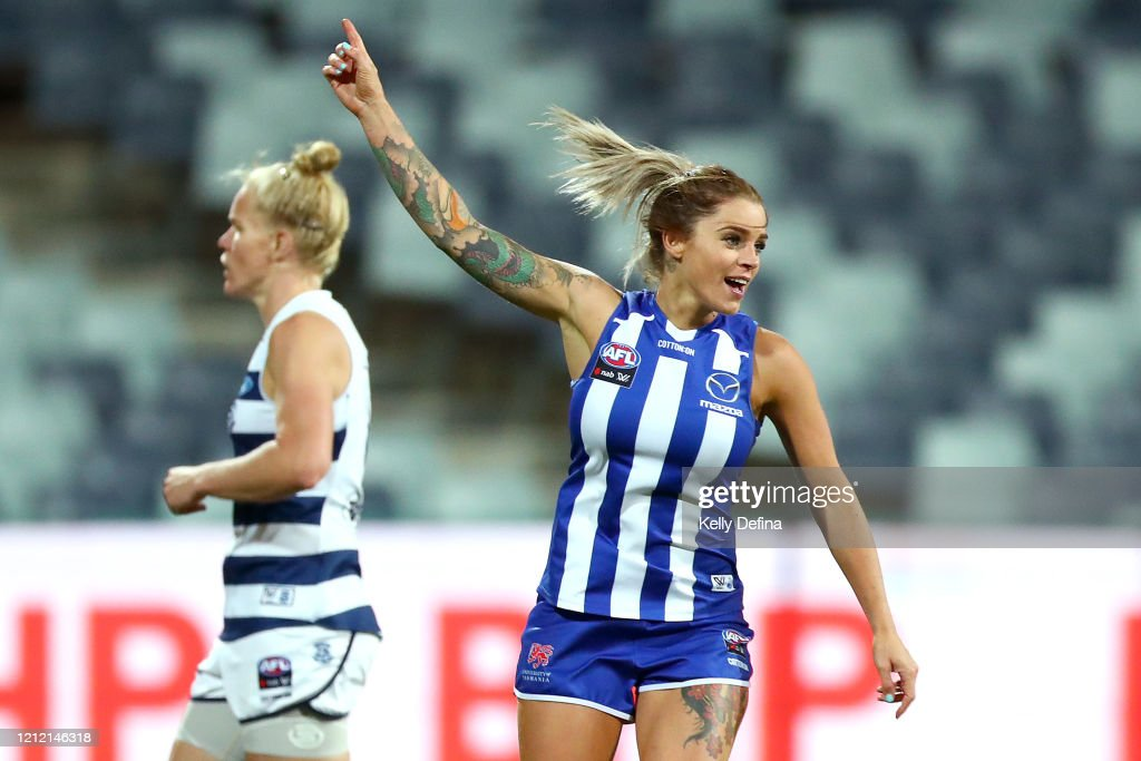 AFLW Rd 6 - Geelong v North Melbourne : News Photo
