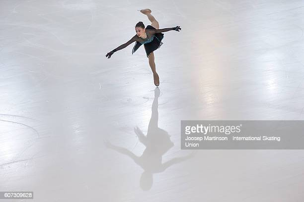 Sophie Abrams of Israel competes during the Junior Ladies Free Skating on day three of the ISU Junior Grand Prix of Figure Skating on September 17...