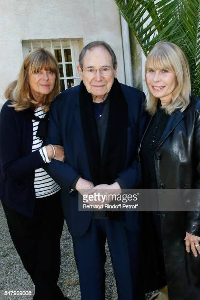 Sophie Agacinski Rober Hossein and Candice Patou attend the Garden Party organized by Bruno Finck companion of JeanClaude Brialy at Chateau De...