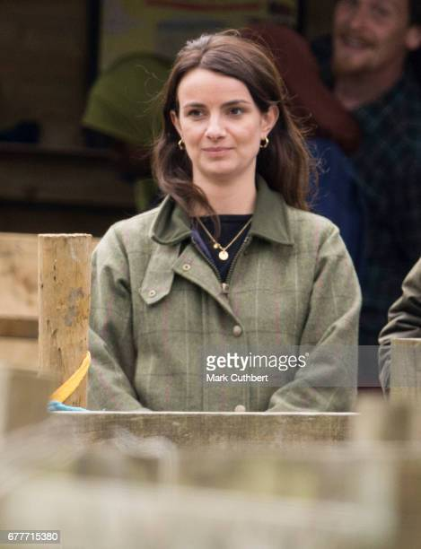 Sophie Agnew during a visit by Catherine Duchess of Cambridge to Farms for City Children on May 3 2017 in Arlingham Gloucestershire Farms for City...