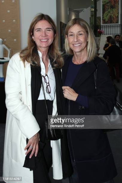 Sophie Agon and Nathalie BlochLaine attend the FIAC 2019 International Contemporary Art Fair Press Preview at le Grand Palais on October 16 2019 in...
