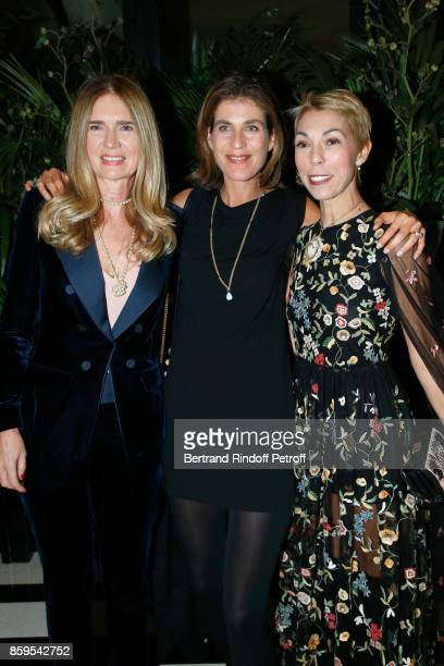 Sophie Agon Vanessa Van Zuylen and Mathilde Favier attend the 'Diner des Amis de Care' at Hotel Peninsula Paris on October 9 2017 in Paris France