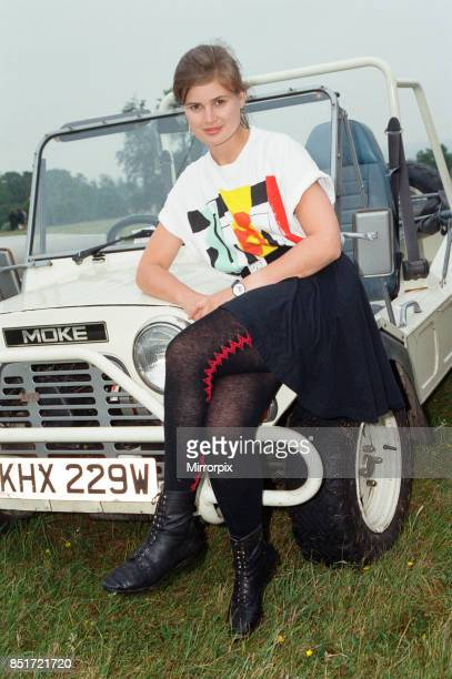 Sophie Aldred as Doctor Who assistant Ace seen here on location near Arundel during the filming of the Doctor Who story called The Silver Nemesis...