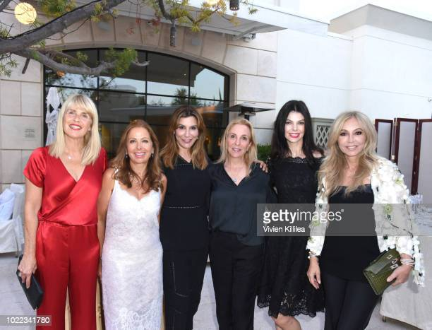 Sophie Allouche Karine Ohana Jo Champa Susan Rockefeller Linda Collins and Anastasia Soare attend Ohana Co LA Event Brands With Mission at The...