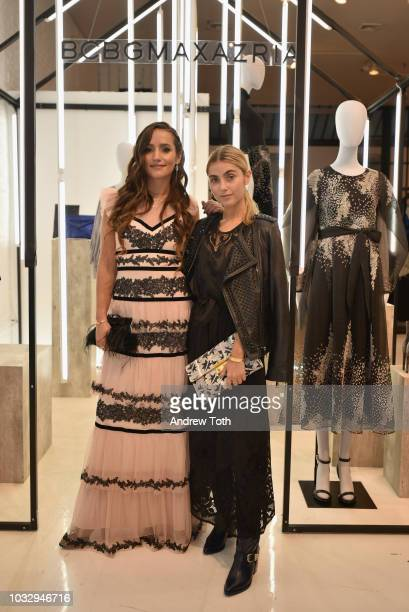 Sophie and Charlotte Bickley attend the celebration of the BCBGMAXAZRIA SoHo store opening with Kate Young Bernd Kroeber and InStyle on September 13...