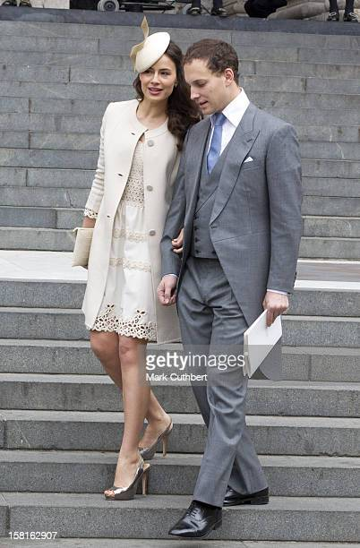 Sophie And Frederick Windsor Attending A National Service Of Thanksgiving At St Paul's Cathedral In London As Part Of The Diamond Jubilee Celebrations
