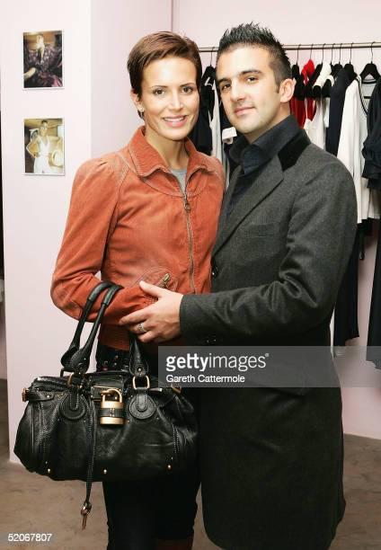 Sophie Anderton and her boyfriend Mark Alexiou attend the Maria Grachvogel - Spring/Summer 2005 Preview & Reception, showcasing the British fashion...