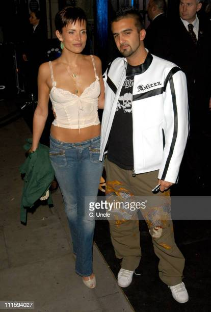 Sophie Anderton and Mark Alexiou during Gizmondo Launch Party Arrivals at Sheraton Park Lane Hotel in London Great Britain