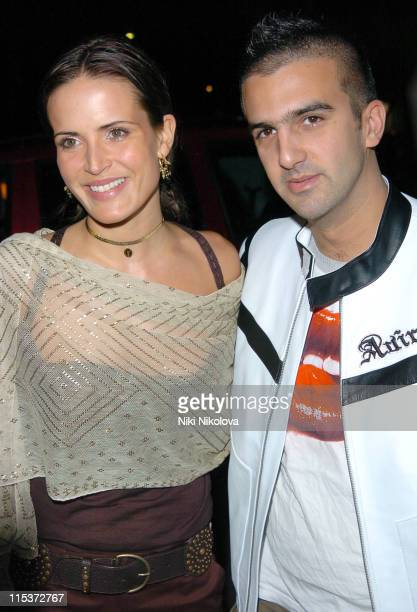 Sophie Anderton and Mark Alexiou during MAC VIVA GLAM V Launch Party at Home House in London Great Britain