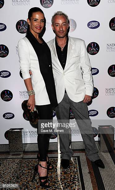 Sophie Anderton and Scott Henshall attend the 30 Days of Fashion And Beauty Gala Party at the Natural History Museum on September 21 2009 in London...