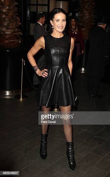 Sophie Anderton attends 'Kate Moss At The Savoy' an exhibition of never before seen photographers of Kate Moss at The Savoy Hotel on January 30 2014...