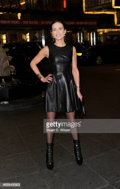 Sophie Anderton attends 'Kate Moss At The Savoy' an exhibition of never before seen photographies of Kate Moss at The Savoy Hotel on January 30 2014...