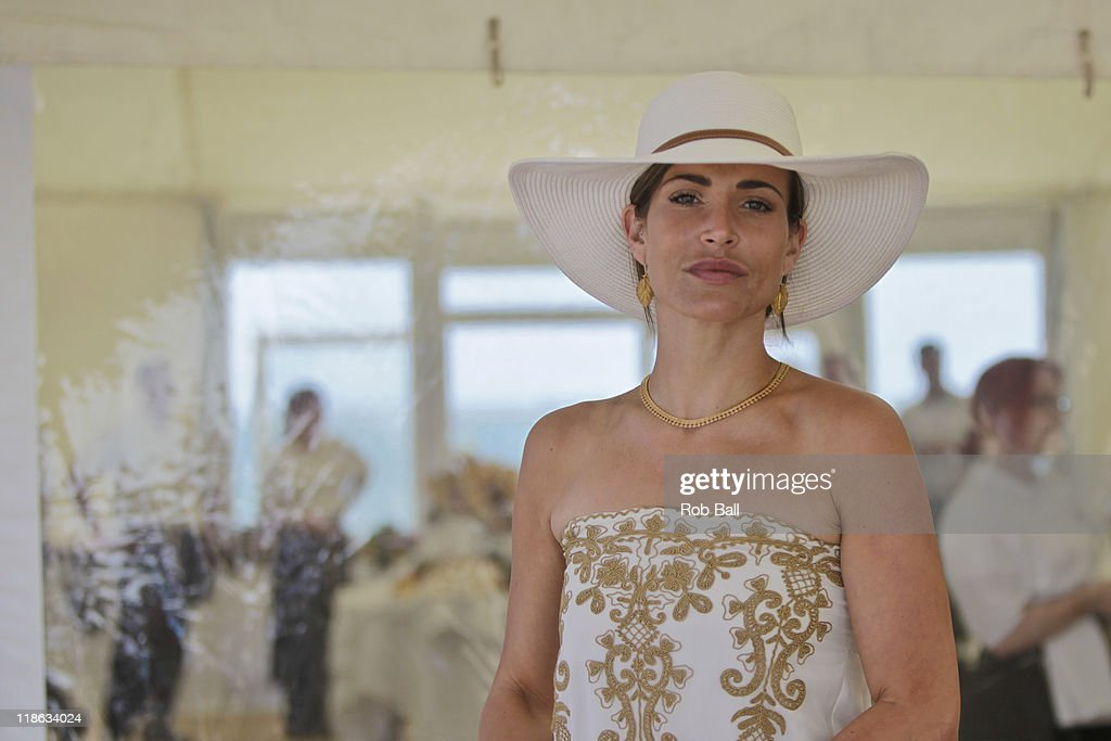Sophie Anderton attends the British Beach Polo Championships at Sandbanks Beach on July 9, 2011 in Poole, England.