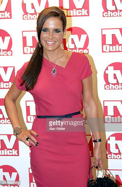 Sophie Anderton during TV Quick Awards & TV Choice Awards - Inside Arrivals at The Dorchester in London, Great Britain.
