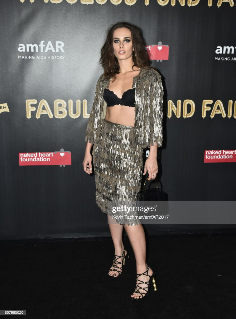 Sophie Auster at the 2017 amfAR & The Naked Heart Foundation Fabulous Fund Fair at the Skylight Clarkson Sq on October 28, 2017 in New York City.