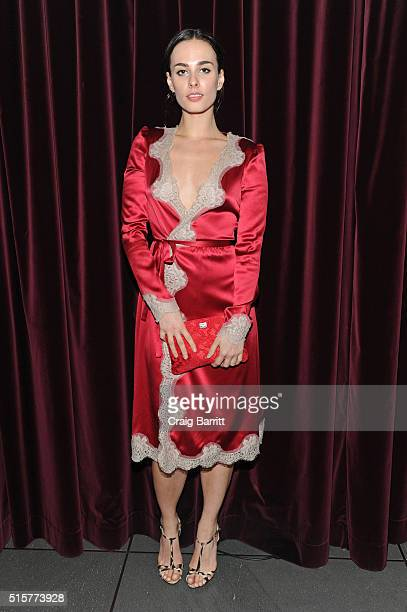 Sophie Auster attends the Dolce Gabbana pyjama party at 5th Avenue Boutique on March 15 2016 in New York City