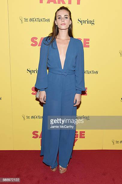 Sophie Auster attends the premiere of Sausage Party at Sunshine Landmark on August 4 2016 in New York City