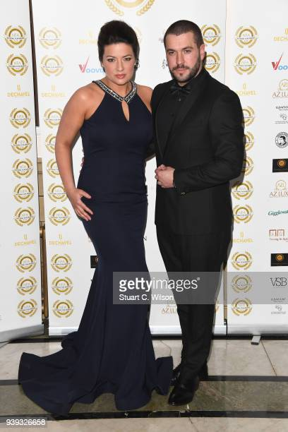 Sophie Austin and Shayne Ward attend the National Film Awards UK at Porchester Hall on March 28 2018 in London England