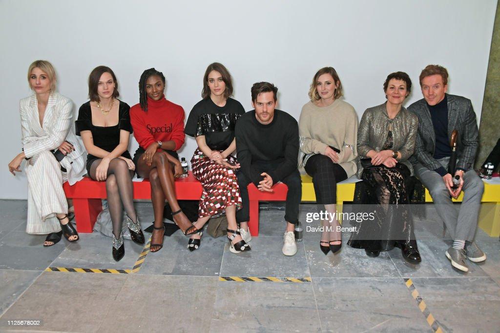 Christopher Kane - Front Row - LFW February 2019 : News Photo