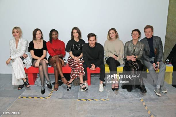 Sophie Ball, Anna Brewster, Dina Asher-Smith, Lizzy Caplan, Tom Riley, Laura Carmichael, Helen McCrory and Damian Lewis attend the Christopher Kane...