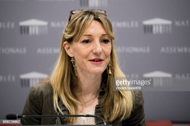 Sophie BeaudouinHubiere ViceChair of the Committee on Economic Affairs attends the hearring of Carlos Tavares Chairman of the PSA Group Executive...