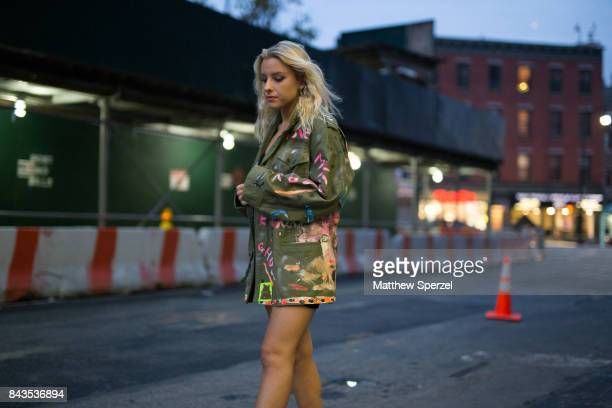 Sophie Beem is seen attending VFILES during New York Fashion Week wearing Scooter LaForge on September 6 2017 in New York City
