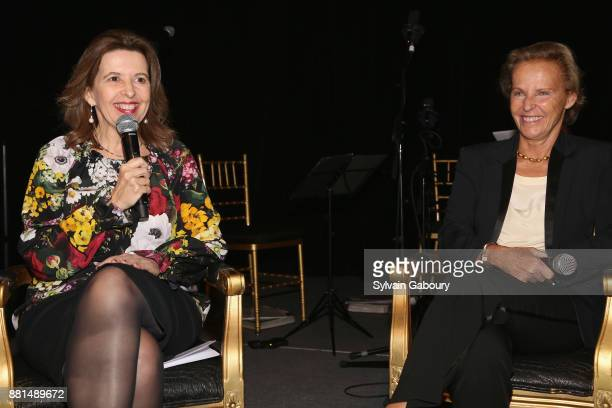 Sophie Bellon and Christine Ockrent attend French American Foundation Annual Gala 2017 at Gotham Hall on November 28 2017 in New York City