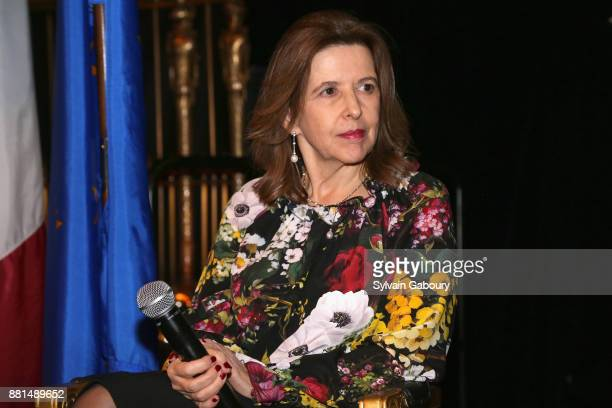 Sophie Bellon attends French American Foundation Annual Gala 2017 at Gotham Hall on November 28 2017 in New York City