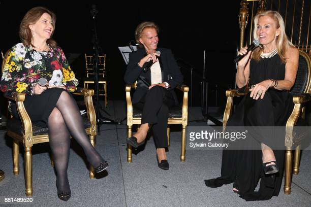Sophie Bellon Christine Ockrent and Jane Hartley attend French American Foundation Annual Gala 2017 at Gotham Hall on November 28 2017 in New York...