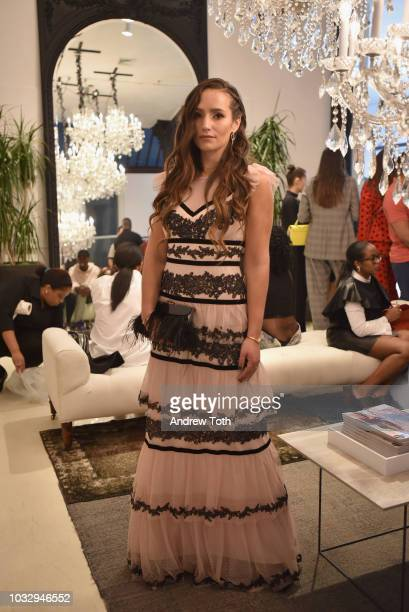 Sophie Bickely attends the celebration of the BCBGMAXAZRIA SoHo store opening with Kate Young Bernd Kroeber and InStyle on September 13 2018 in New...