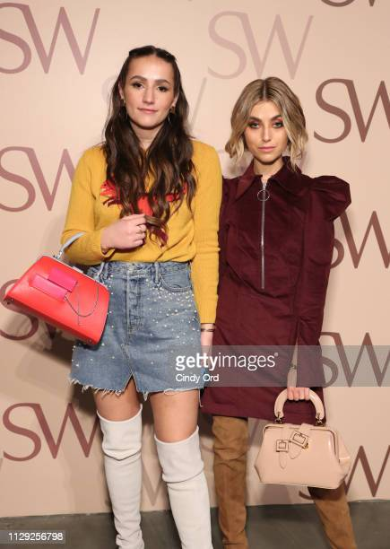 Sophie Bickley and Charlotte Bickley attend Stuart Weitzman Spring Celebration 2019 on February 12 2019 in New York City