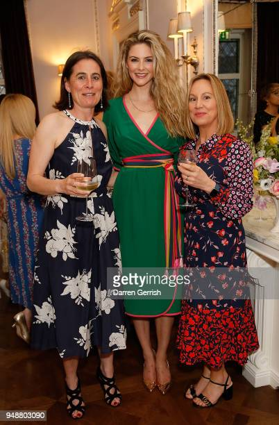 Sophie Boden Tamsin Egerton and Marianne Jones attend the Boden Icons SS18 dinner at The Connaught Hotel on April 19 2018 in London England