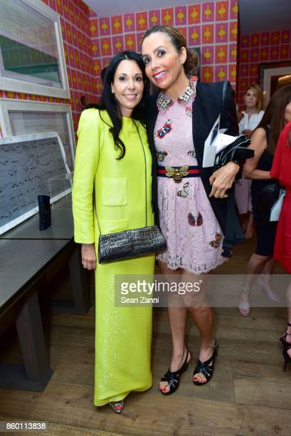 Sophie Bonvin and Lieba Nesis attend the launch of The Collector Geneva's Sophie Bonvin Code Collection in Collaboration with artist Bill Claps at...