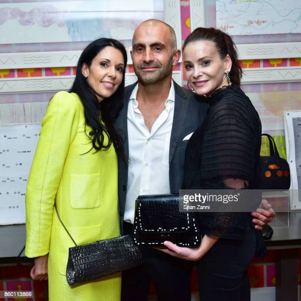 Sophie Bonvin Artist Bill Claps and Guest attend the launch of The Collector Geneva's Sophie Bonvin Code Collection in Collaboration with artist Bill...