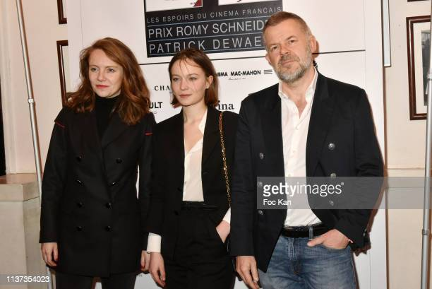 Sophie Brafman actress Diane Rouxel and Eric Naulleau attend the 37th 'Romy Schneider And Patrick Dewaere Awards' Nominee Luncheon At Cinema Le Mac...