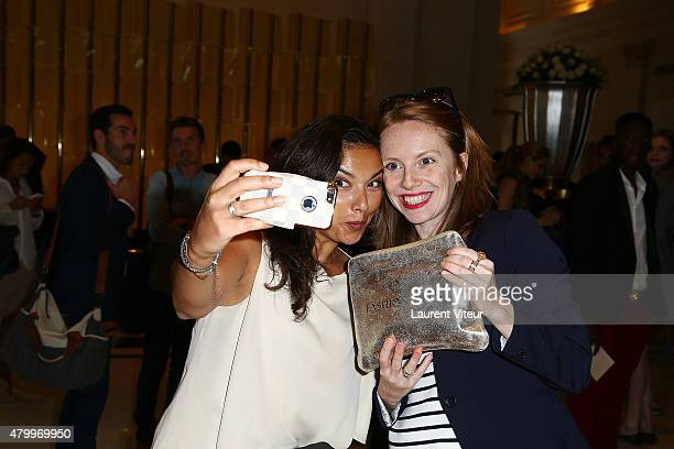 Sophie Brafman and Anais Baydemir attend the Manu Reas show as part of Paris Fashion Week Haute Couture Fall/Winter 2015/2016> on July 8 2015 in...