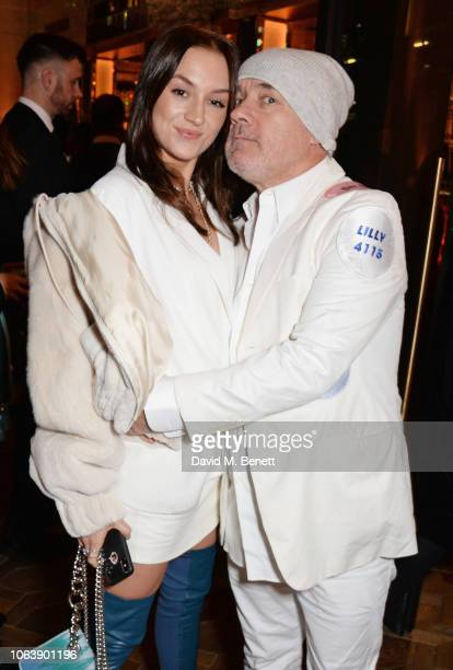 Sophie Cannell and Damien Hirst attend the launch of new restaurant Brasserie Of Light at Selfridges on November 20 2018 in London England