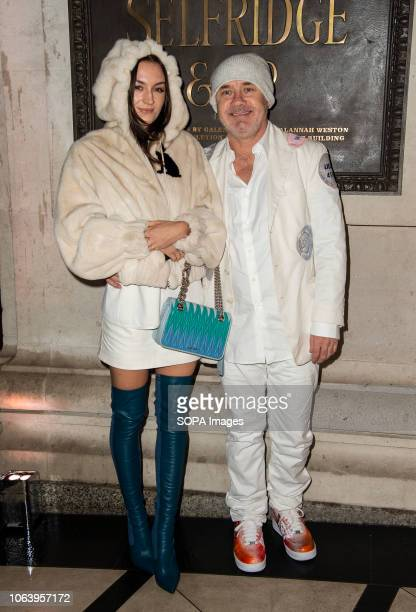 Sophie Cannell and Damien Hirst attend the launch of new restaurant Brasserie Of Light at Selfridges