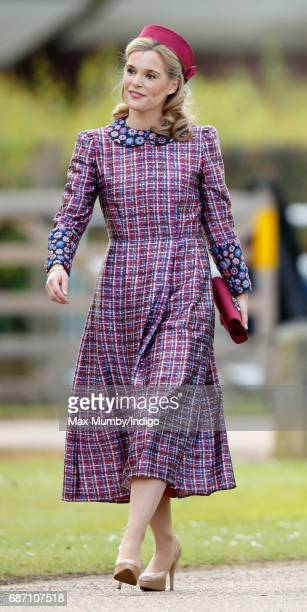 Sophie Carter attends the wedding of Pippa Middleton and James Matthews at St Mark's Church on May 20 2017 in Englefield Green England