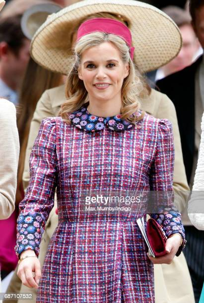 Sophie Carter attends the wedding of Pippa Middleton and James Matthews at St Mark's Church on May 20, 2017 in Englefield Green, England.