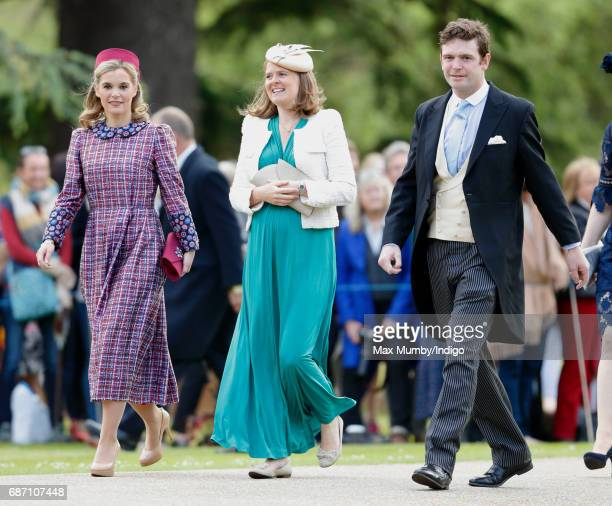 Sophie Carter Lady Laura Meade and James Meade attend the wedding of Pippa Middleton and James Matthews at St Mark's Church on May 20 2017 in...