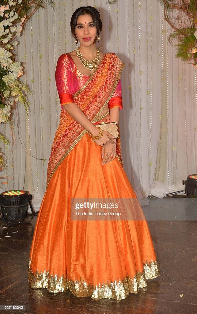 Sophie Choudry at Bipasha Basu and Karan Singh Grovers wedding reception ceremony at St Regis Hotel in Mumbai