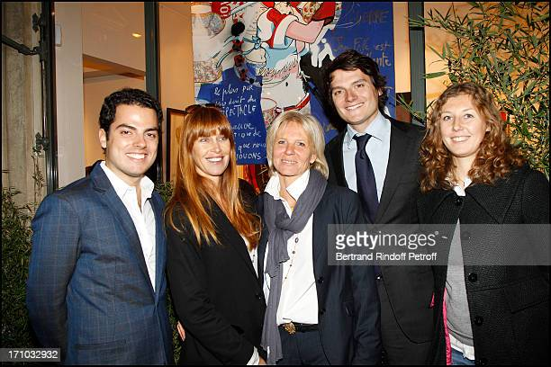Sophie Clerico Delon and Sophie Litras between the owners of the Caplain Matignon art gallery at Exhibition Opening Of The Collection Nicolas Laugero...