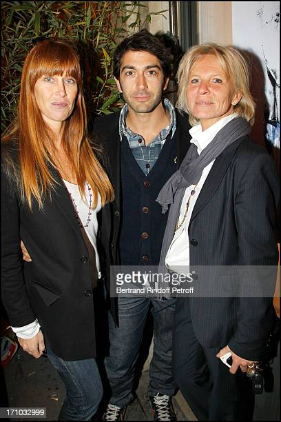 Sophie Clerico Delon Mathieu Delarives Sophie Litras at Exhibition Opening Of The Collection Nicolas Laugero Lasserre At Gallery Galerie Caplain...