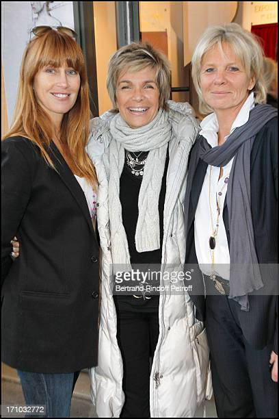 Sophie Clerico Delon Veronique Jannot Sophie Litras at Exhibition Opening Of The Collection Nicolas Laugero Lasserre At Gallery Galerie Caplain...