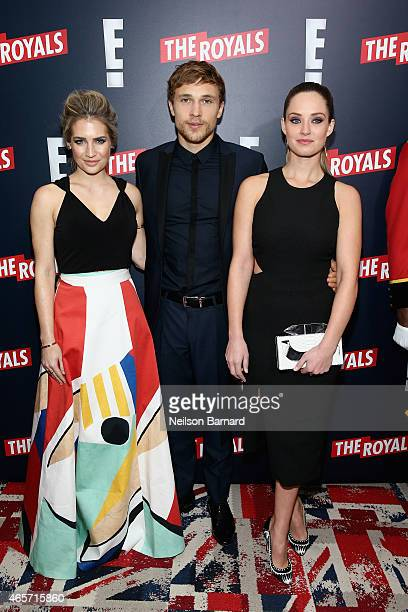 Sophie Colquhoun William Moseley and Merritt Patterson attend 'The Royals' New York Series Premiere at The Standard Highline on March 9 2015 in New...