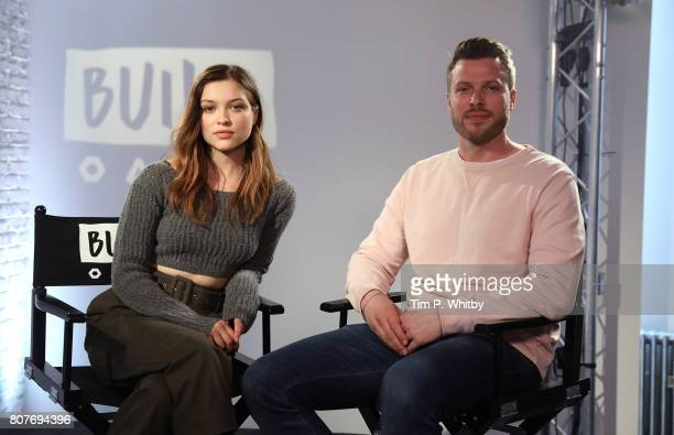 Sophie Cookson and Rick Edwards pose for a photo after speaking about the new Netflix show 'Gypsy' at BUILD LDN at AOL London on July 4 2017 in...