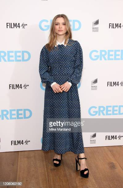 Sophie Cookson attends Greed Special Screening at Ham Yard Hotel on February 13 2020 in London England